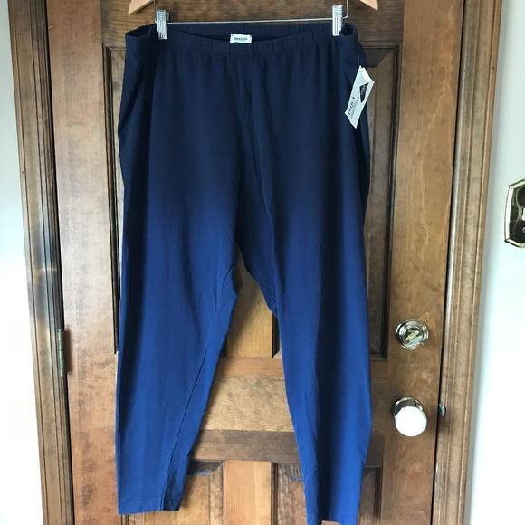2deccb387e4 Danskin Plus Navy Blue Ankle Leggings Size 4X